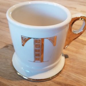 """Anthropologie """"T"""" cup"""